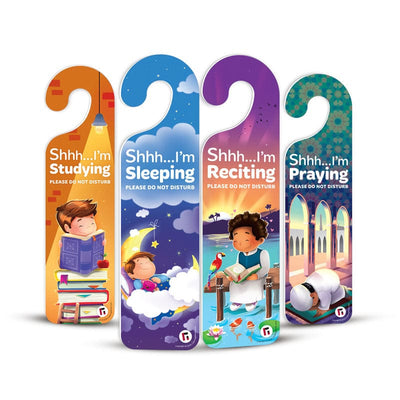 Quiet Please! Pack of 4 Do Not Disturb Signs - Learning Roots