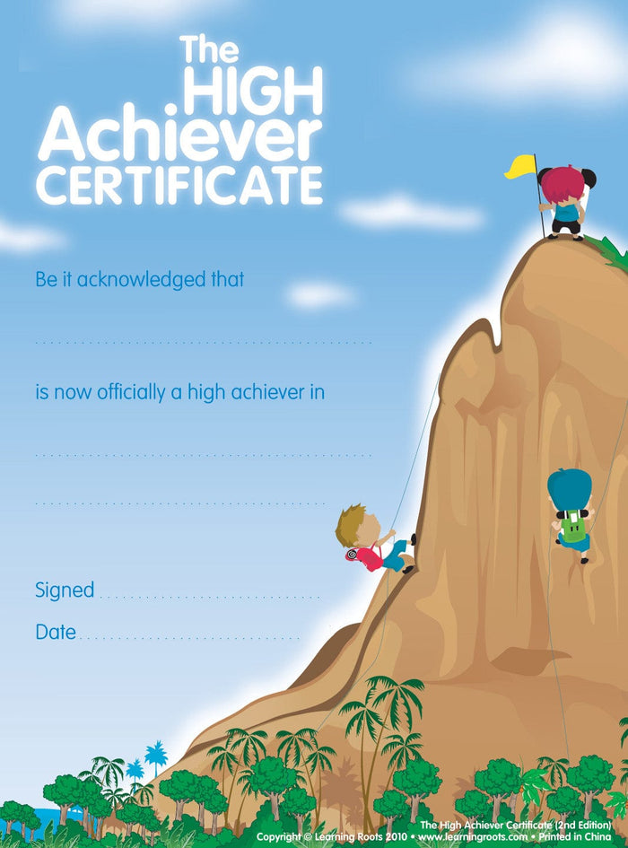 High Achievers Certificate (25 Pack - A4) - Learning Roots