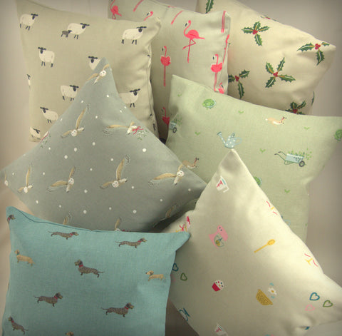 "Copy of Sophie Allport Fabric. 12""x12"" (30cm x 30cm) Cushion Covers-CLICK FOR OPTIONS - Jessica Anna Home"