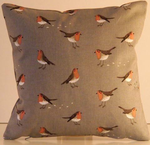"Sophie Allport Robin & Mistletoe Fabric. 12"" Cushion Cover - Jessica Anna Home"
