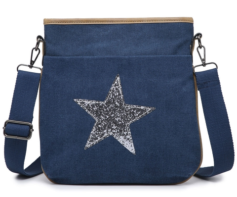 Navy Star Crossbody