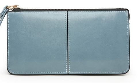 Pale Blue Wrist Strap Purse