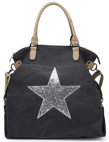 Charcoal Star Tote