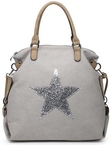 Pale Grey Star Tote