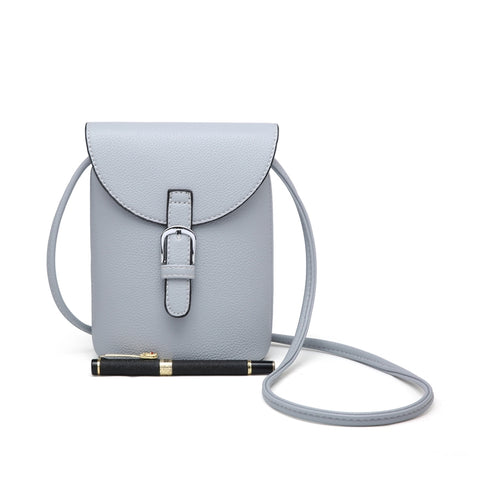 Mini Satchel Bag - Pale Grey