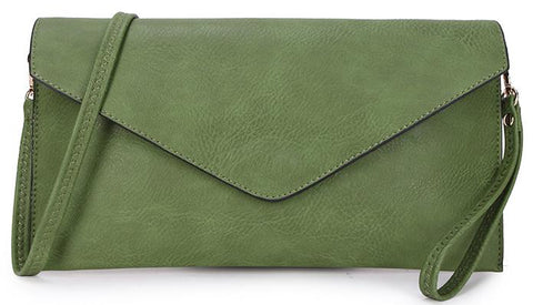 Green Envelope Clutch