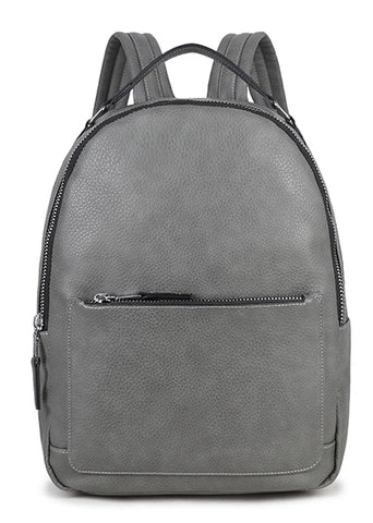 Grey Zip Backpack