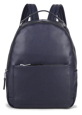 Navy Zip Backpack