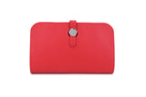 Red Wallet with Purse & Card Holder
