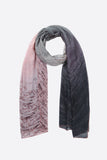 Pink & Grey Mottled Scarf