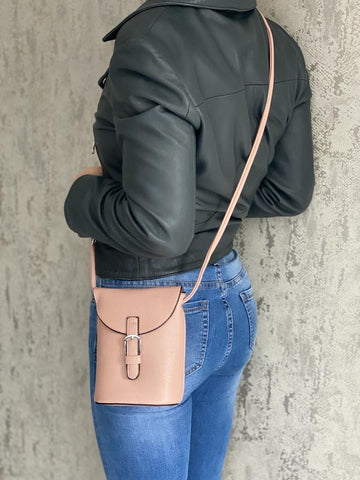 Mini Satchel Bag - Blush Pink