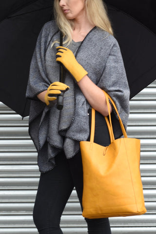 Mustard Tote Bag & Glove Set.