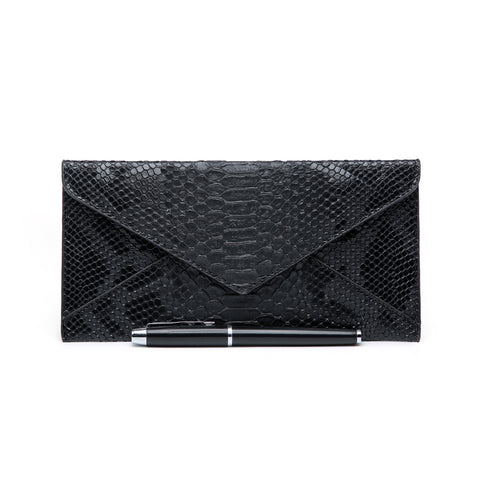 Snakeskin Purse, Black