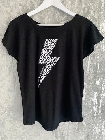Black & White Lightning T-Shirt