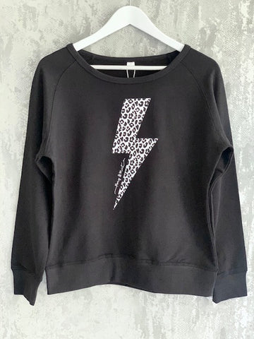 Black & White Leopard Lightning Sweatshirt