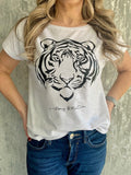 White & Black Tiger T-Shirt