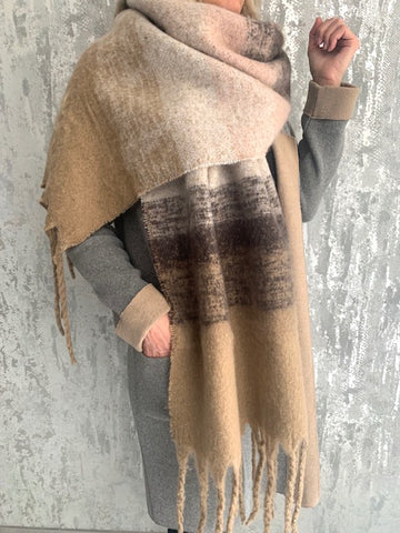 Camel Ombre Blanket Scarf