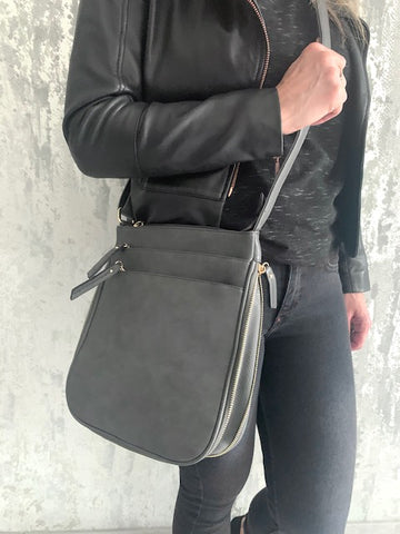 Grey Libby Zip Bag