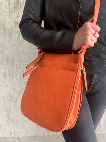 Orange Libby Zip Bag