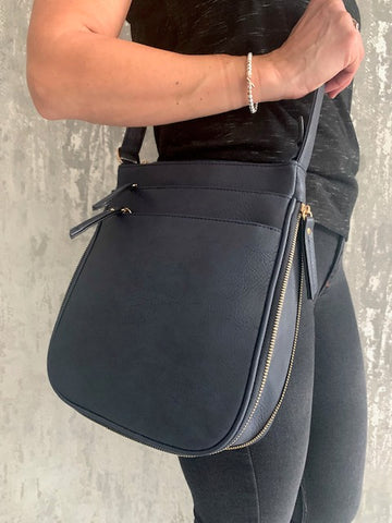 Navy Libby Zip Bag