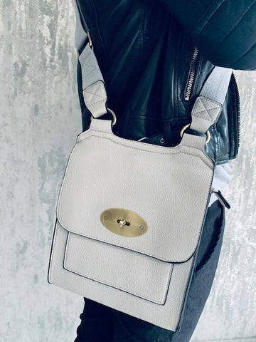 Pale Grey Messenger Bag