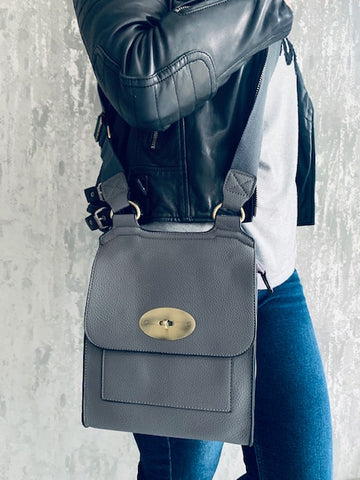 Dark Grey Messenger Bag