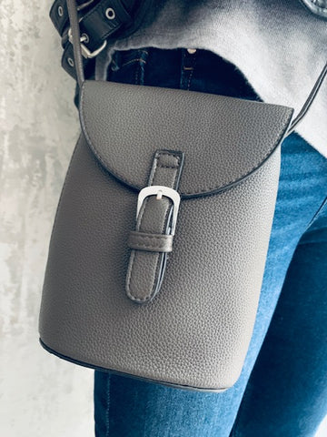 Mini Satchel Bag - Dark Grey