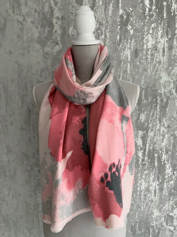 Soft Touch Blush & Coral Floral Scarf
