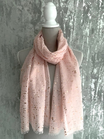 Pink & Rose Gold Speckle Scarf