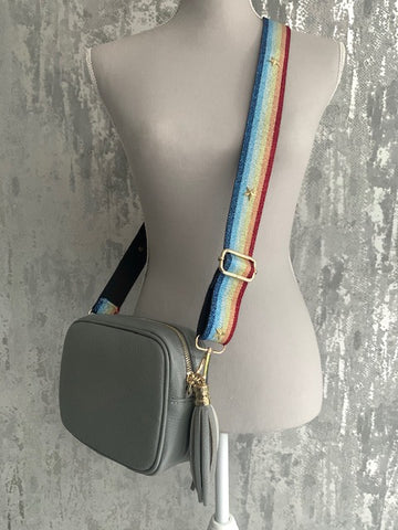 Metallic Rainbow Strap Bags