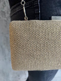Natural Boxy Weave Bag