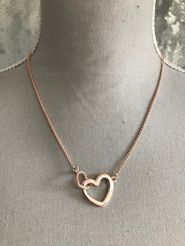 Rose Gold Heart Link Necklace