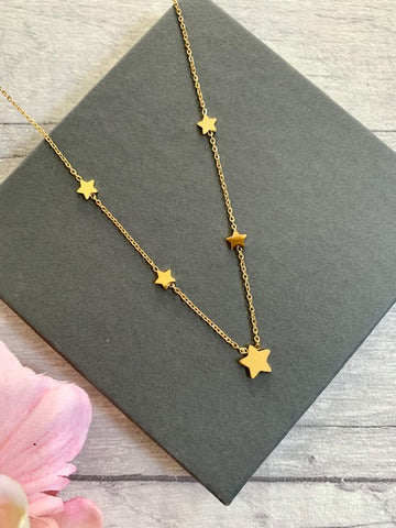 Delicate Gold Star Necklace