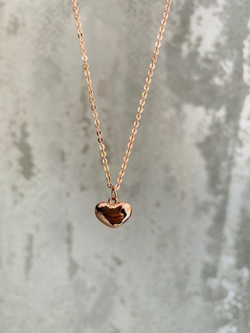 Delicate Rose Gold Heart Necklace