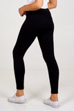 Black Fleece Cable Leggings