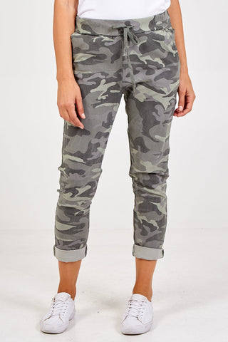 Camo Crushed Magic Pants