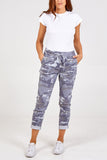 Grey Camo Crushed Magic Pants