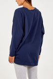 Navy Lip Sweatshirt