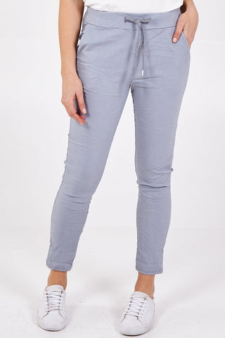 Grey Crushed Magic Pants