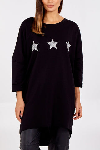 Black Star Tunic Sweatshirt