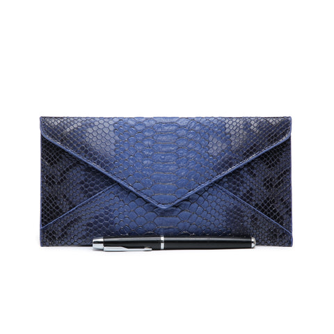 Snakeskin Purse, Blue