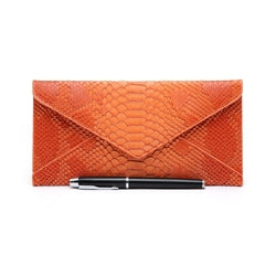 Snakeskin Purse, Orange