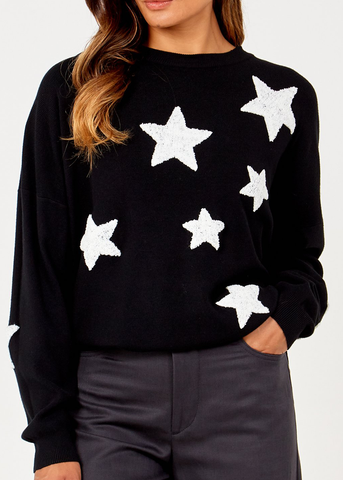 "Black ""STAR"" Jumper"