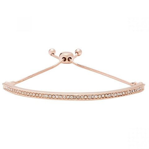Rose Gold Delicate Diamante Friendship Bracelet