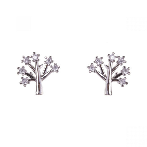 Cubic Zirconia Tree Of Life Earrings