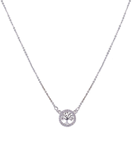 Diamanté Tree Of Life Necklace