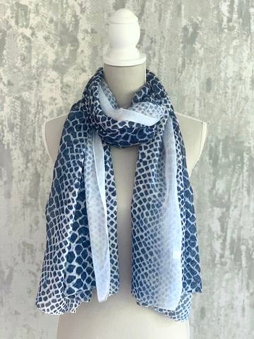SECONDS - Blue Snake Print Scarf