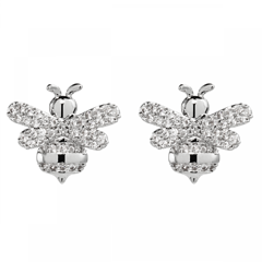 Bee Silver Earrings