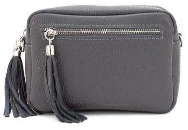 Willow Bag, Grey Leather