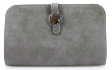 Grey Wallet with Purse & Card Holder